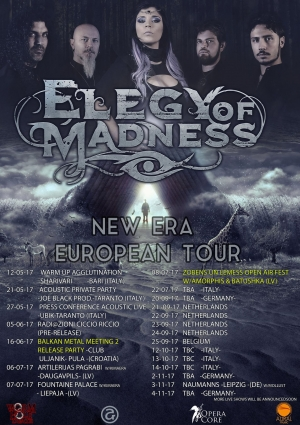 "ELEGY OF MADNESS ANNOUNCE ""NEW ERA EUROPEAN TOUR 2017"""
